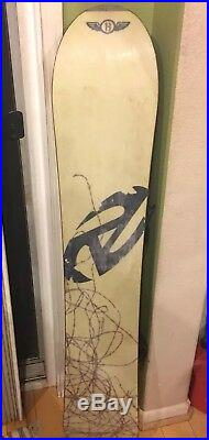 Vintage Burton Craig Kelly Air Snowboard W Burton Bindings Very Rare All Black