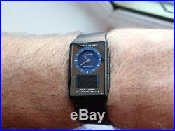 Vintage Casio Film Watch FS-05 Blue Dual Time Dial lights up rare find now vgc