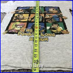 Vintage Donkey Kong Country All Over Print Shirt XL 90s Super Nintendo Rare