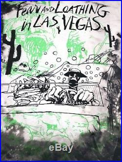Vintage Fear And Loathing In Las Vegas Mosquitohead Movie T-Shirt 90s XL RARE