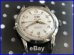 Vintage Hamilton Illinois men's wristwatch power-reserve rare works stainless st