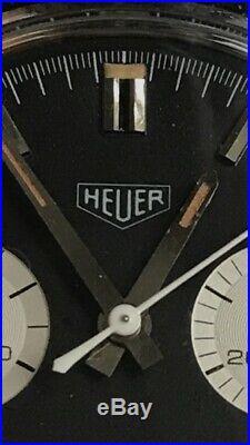 Vintage Heuer 73323 Chronograph. Reverse Panda. Valjoux. Rare. Not Carrera