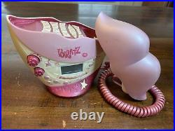 Vintage MGA BRATZ Kickin Cool Clock Radio LIPS Phone! Bratz Lipz Phone RARE