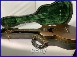 Vintage Mahogany Martin Tenor Ukulele Soprano Guitar Antique 1920 1930 Rare