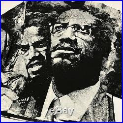Vintage Malcolm X All Over Print T Shirt Rap Tee L/S Black Power Rare Af