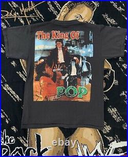 Vintage Michael Jackson Rap Tee RARE King Of Pop, Single Stitch Mega Print