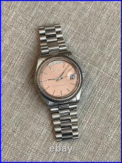 Vintage Mido Commander DayDate Mido 8299 Rare Salmon dial mens watch