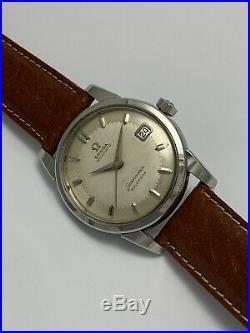 Vintage Omega Seamaster Calendar Cal 502 Rare Dial SS Case 2849