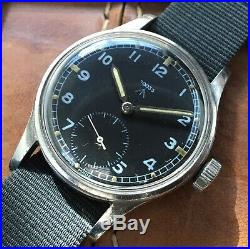 Vintage Omega WWW British Military Watch, With Rare NATO Dial And Hands