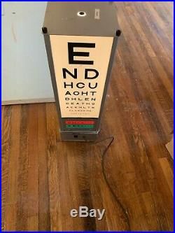 Vintage Opticians Eye Test Light, Floor Stand Lamp- Man Cave, Bar, Retail, RARE