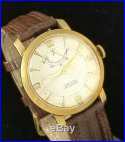 Vintage Orvin Mens Wrist Watch Rare Automatic Power Reserve Wind Indicator