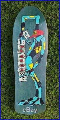 Vintage Powell Peralta Ray Barbee Skateboard Deck Teal Stain RARE Tony Hawk