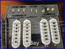 Vintage RARE Tulio Electric Guitar Japan Teisco Kawai Silvertone 4 Pickups