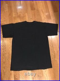 Vintage RARE X-FILES BLACK T-SHIRT XL 1994 Stanley Desantis original