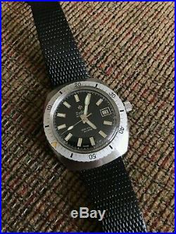 Vintage RARE Zodiac SeaWolf 20atm diver's watch ref. 722 906 UNPOLISHED