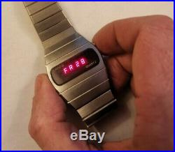 Vintage Rare Lanco Swiss Made 104001 70, s LED Watch