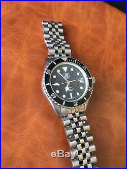 Vintage Rare Tag Heuer 1000 Professional Men's Watch Wolf Of Wall St 980.013B