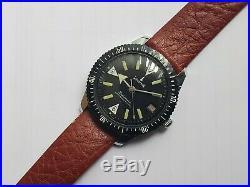 Vintage Rare Waldman Datamatic Mens Divers Watch Swiss Movement