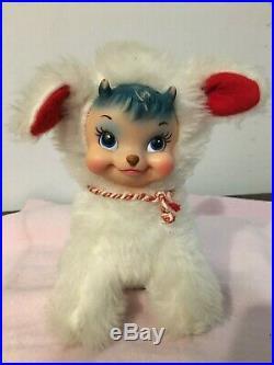 Vintage Rushton Rubber Face Star Creation Billy Butts Goat Valentine Plush Rare