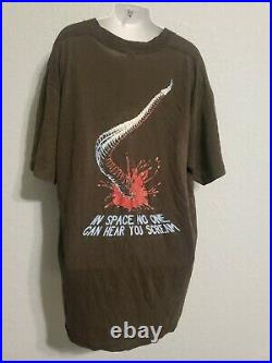 Vintage T-shirt 1988 ALIENS Acid Drool 80's Space Horror Movie Rare! Original