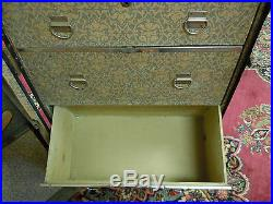 Vintage Wardrobe Steamer Travel Chest Case Real Good Trunk Hole Proof withKey RARE