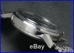 Vintage Watch 1960's ZENITH C. 146D SS S / B Chronograph Rare Blue Gray dial