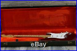Vintage and Rare! Fender Stratocaster Maple Candy Apple Red 1973 ALL Original +