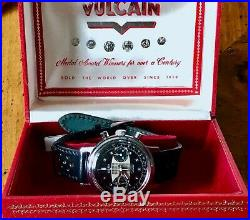 Vintage rare VULCAIN GRAND PRIX SURFBOARD 2 register chronograph + box