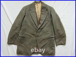 Vtg 30s 1936 Date Burberry's 2 Pc Button Fly Wool Suit Jacket & Pants 1930s RARE