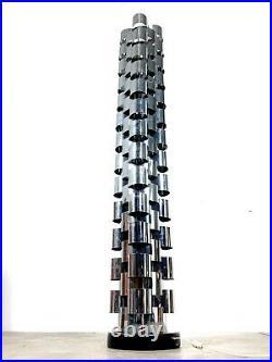 Vtg Curtis Jere Chrome Skyscraper Floor Lamp Sculpture Mid Century Modern Rare