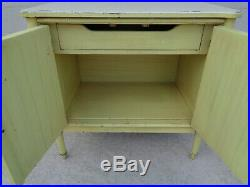 Vtg Rare Real Henry Link Faux Bamboo Bali Hai Louvered 2 Door 1 Drawer Chest