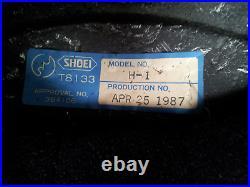 WoW VINTAGE RARE 1987 SHOEI H-1 ROBOCOP HELMET IN SIZE M OR 7 1/8 7 1/4