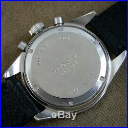 YEMA Yachtingraf Croisiere Rare 3 Reg Dial Chronograph Vintage 1969 Valjoux 7736